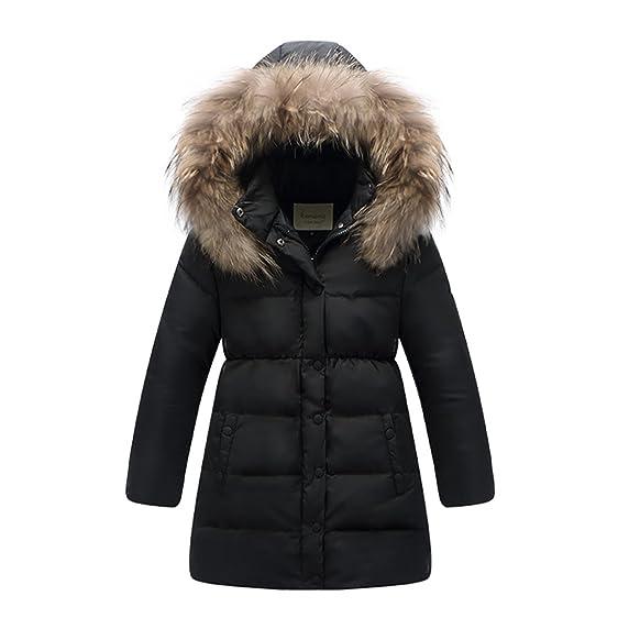 Amazon.com: MISSMAY Kids Big Girls' Down Puffer Jacket Parka Coat ...