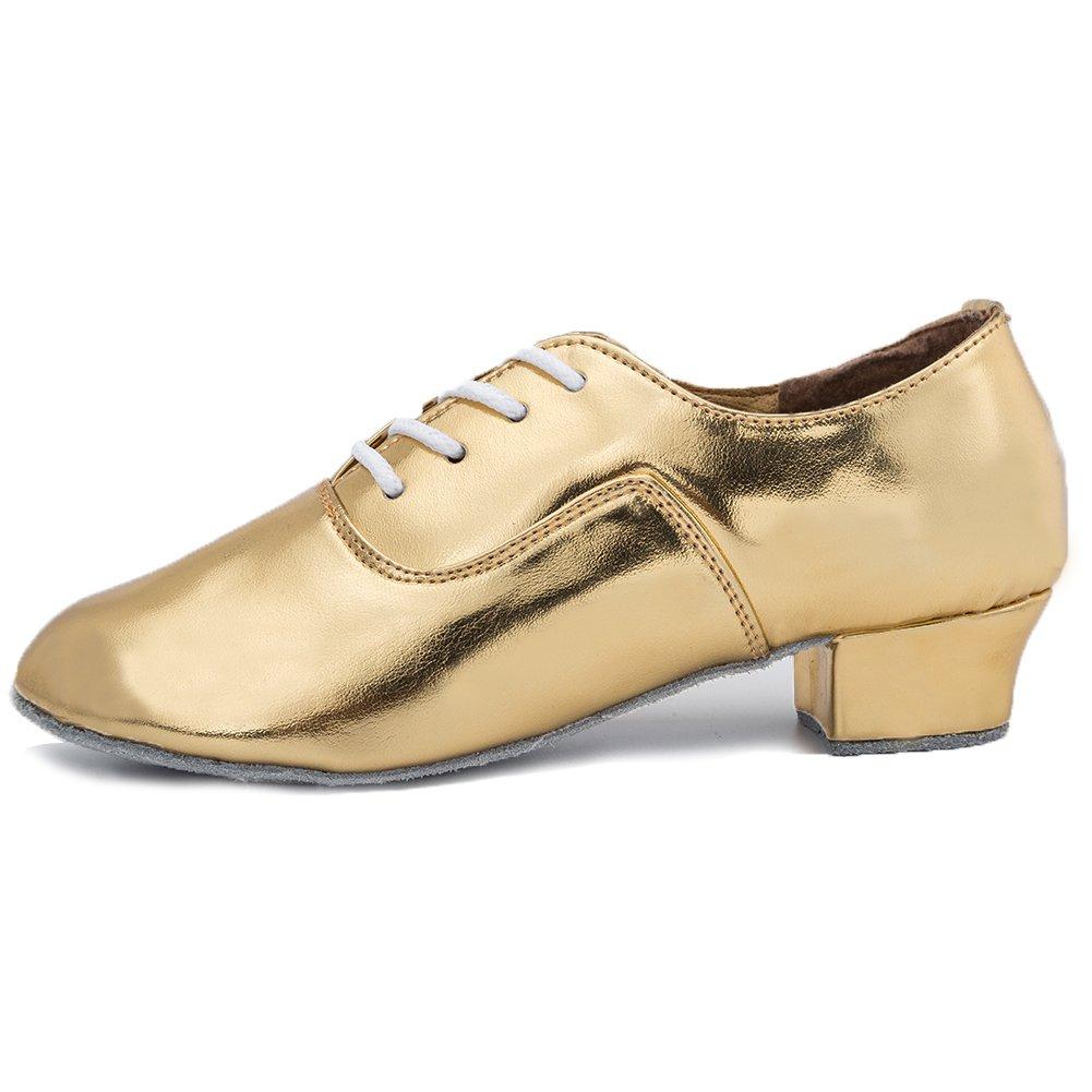 Roymall Boy's&Kid's Leather Professional Latin Dance Shoes Ballroom Jazz Tango Waltz Performance Shoes