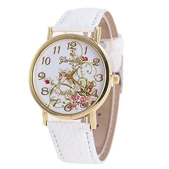 Daringjourney Reloj para Mujer, Estampado de Flores de jardín ...