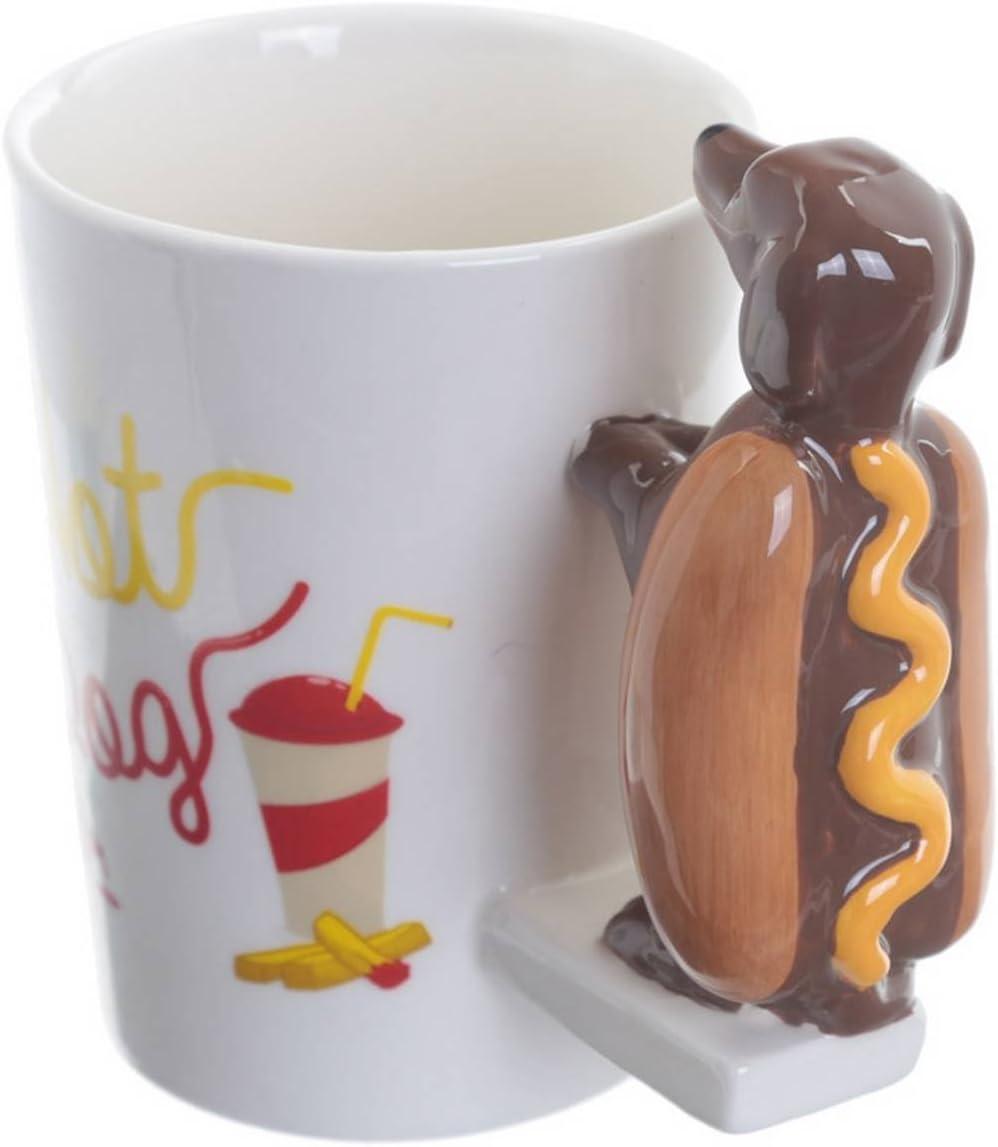Puckator dise/ño de perro salchicha Taza de desayuno con asa