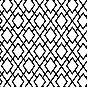 Opaque Geometrics Black White Suttons Printed Patterned Tissue