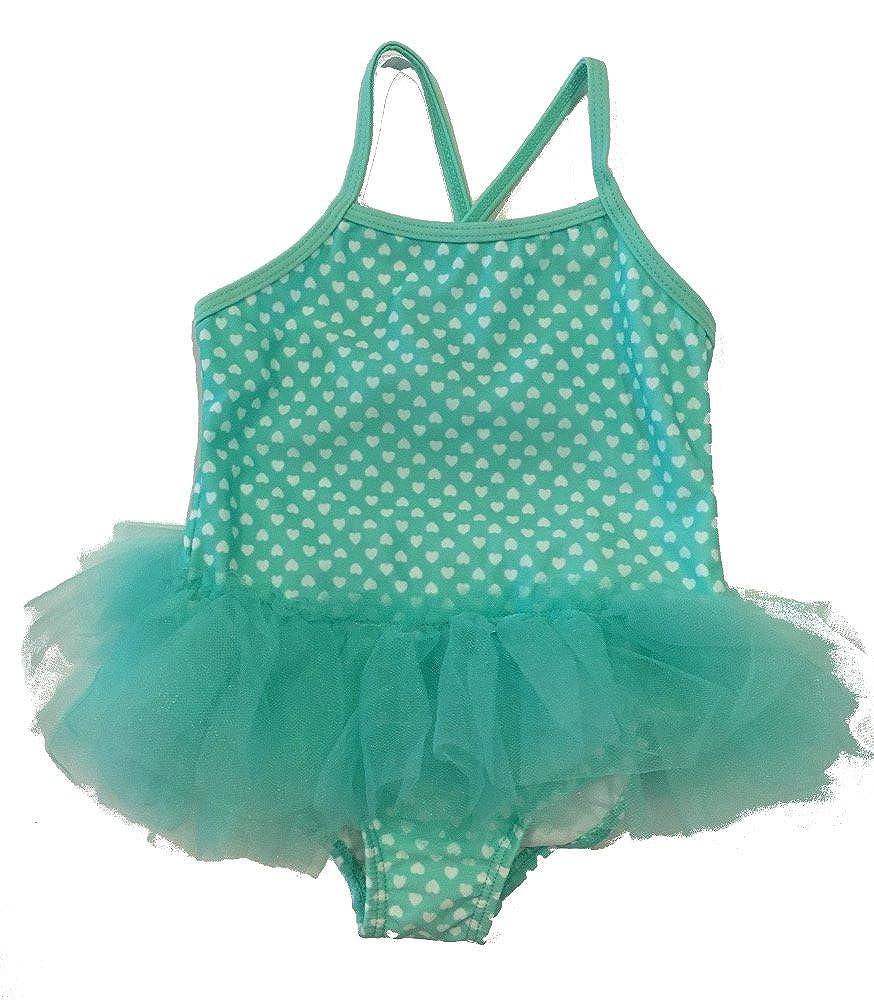 OP Turquoise Heart Baby Girls One Piece Swimsuit Bathing Suit Swimwear