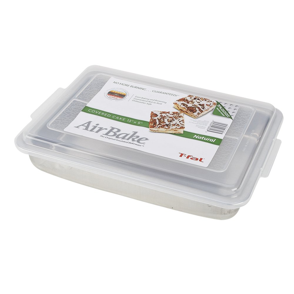 AirBake Natural Cake Pan with Cover, 13 x 9 in