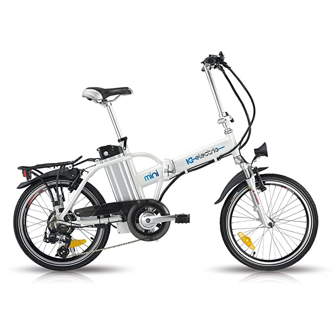 Bicicleta eléctrica plegable IC Electric Mini White: Amazon.es: Juguetes y juegos
