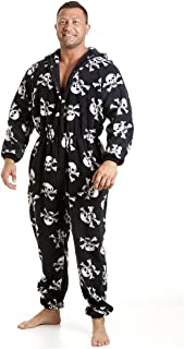 Camille Mens Supersoft Fleece Skull Print Onesie
