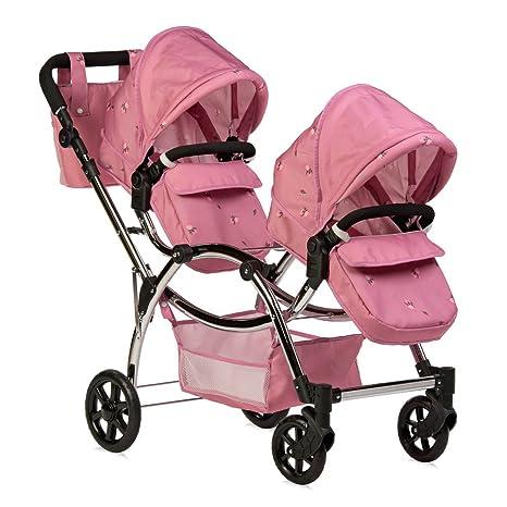 Cochecito de muñecas Roma Darcie, doble, color rosa, ...