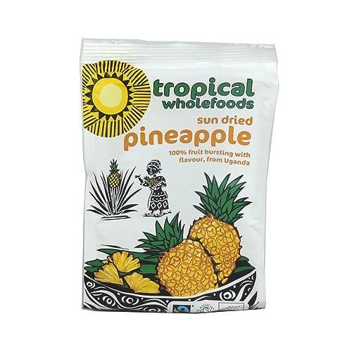 Tropical Wholefoods Org Sun Dried Pineapple 100g x 3