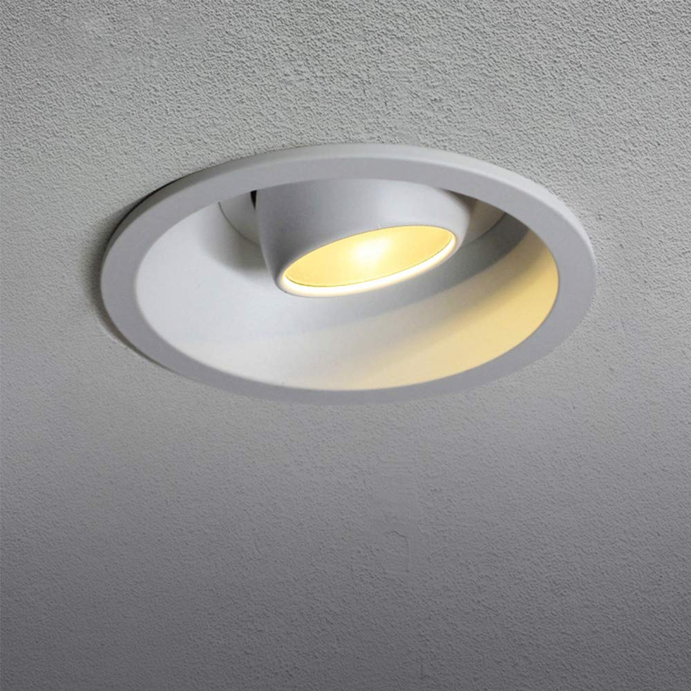 Aisilan Gimbal Rotation Recessed Ceiling Downlight, Adjustable 12W 4.7'' Warm White 3000K Retrofitted Kit MSD-79-W-3K-12W