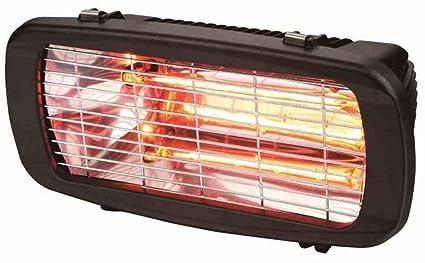 Estufa Solerosso 1300W por infrarrojos, para interiores y exteriores, para montaje en pared LCD