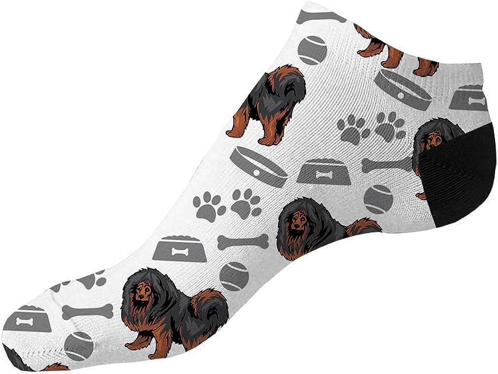 Tibetan Mastiff Dog Pattern Men-Women Adult Ankle Socks Crazy Novelty Socks