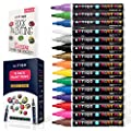 Paint Pens for Rock Painting - Wood, Glass, Metal and Ceramic Works On Almost All Surfaces Set of 15 Vibrant Medium Tip Oil Paint Pens, Quick Dry, Water Resistant