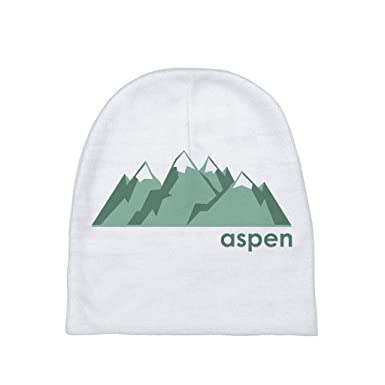 29f1470df16 Amazon.com  Aspen Mountain Range - Colorado Unisex Baby Beanie  Clothing