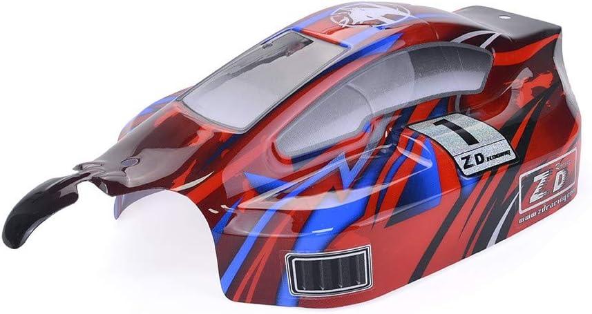 TwoCC Accesorios Rc,Adecuado Para Accesorios De Carcasa De Vehículos Todoterreno Recambio De Cubierta De Carcasa del Cuerpo del Coche Para Zd Racing 8459 1/8 Off-Road Buggy Rc Car(Rojo)