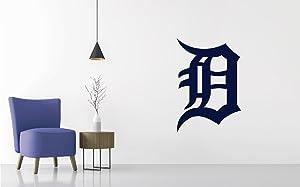 Baseball Team Logo - Wall Decal Removable & Reusable For Home Bedroom (Wide 20