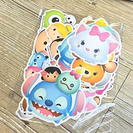 Multiple Characters Disney Tsum Tsum Waterproof Luggage Decoration Stickers 20 pcs