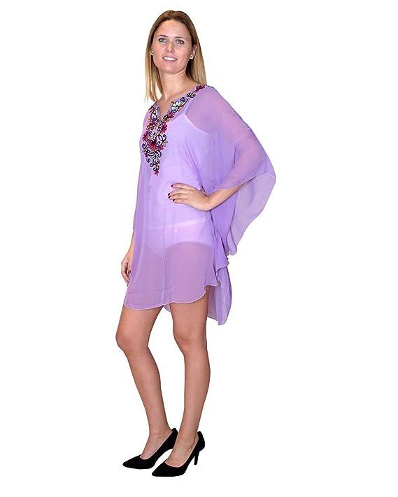 Bayside Barcelona blusa de caftán bordada de fiesta de gasa talla g: Amazon.es: Electrónica