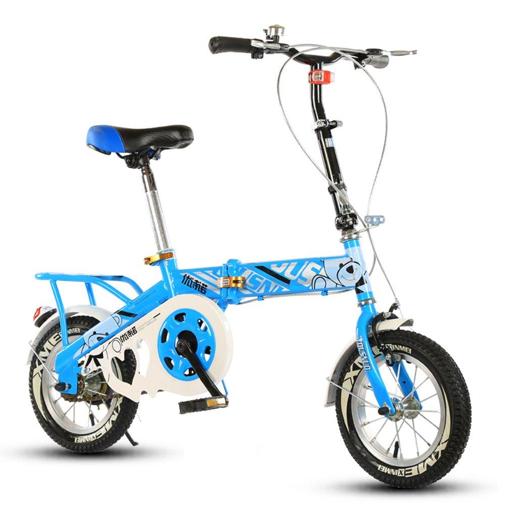 子供の折りたたみ自転車、12-14-16-20インチの男子学生自転車6-8-10-12歳の乳母車 ( 色 : Blue-A , サイズ さいず : 14 inch ) B07CNK24KD 14 inch|Blue-A Blue-A 14 inch