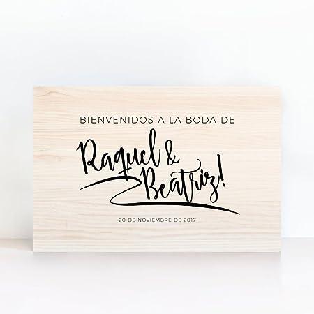 Cartel De Madera Personalizado Bienvenidos Urban Lettering ...