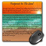 3dRose LLC 8 x 8 x 0.25 Inches Mouse Pad, Footprints in the Sand (mp_63084_1)