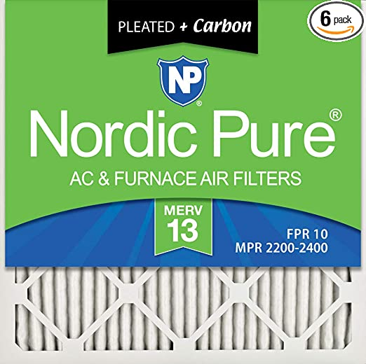 Nordic Pure 18x18x1 MERV 10 Pleated AC Furnace Air Filters 1 Pack