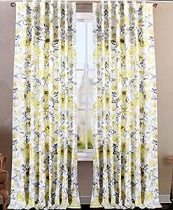 Amazon Com Envogue Clarissa Window Curtains Hummingbird