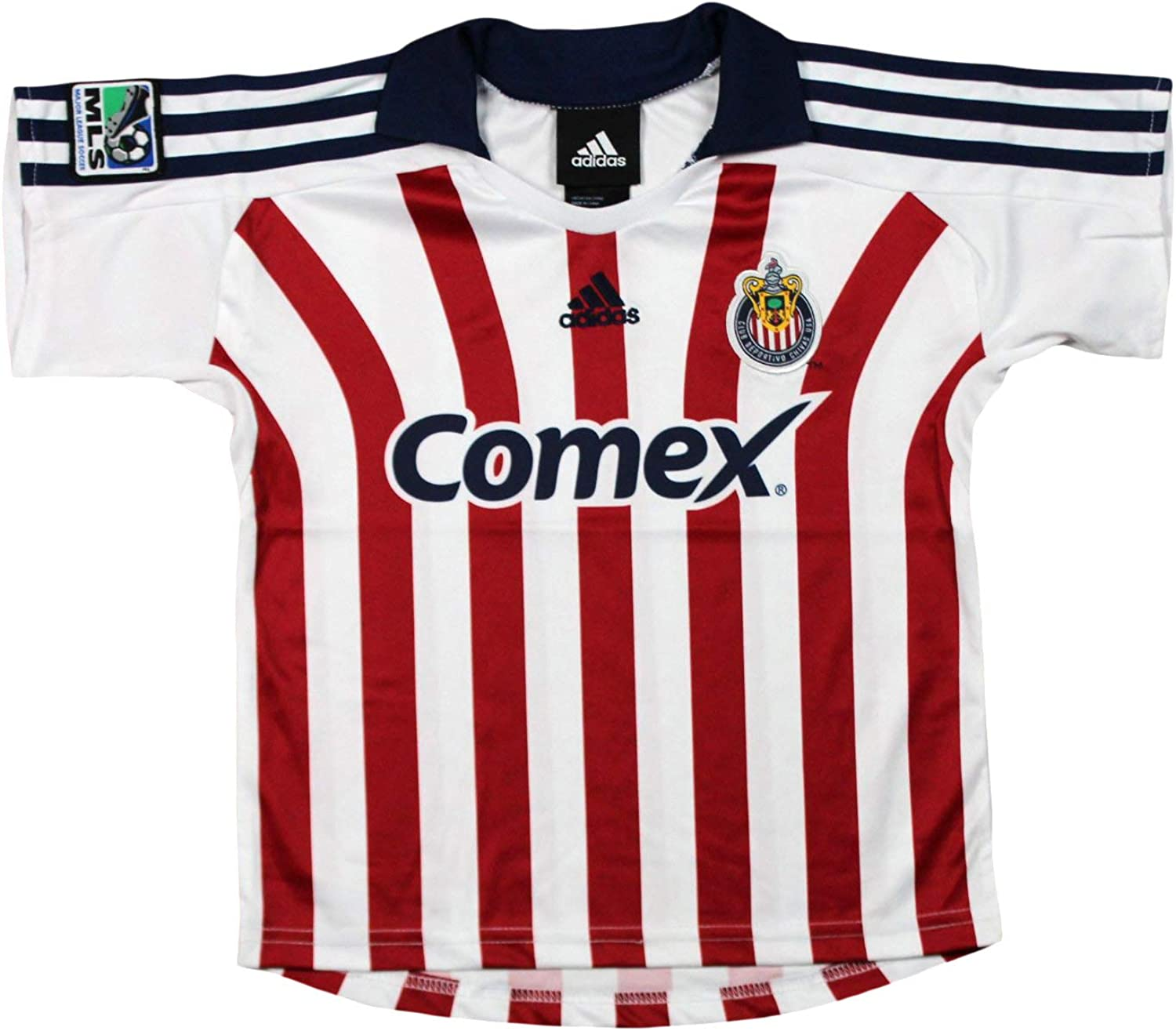 Club Deportivo Chivas USA MLS Toddlers Away Replica Jersey Polo Top, White & Red