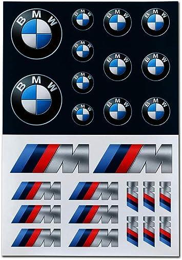 Bmw Logo M Performance Aufkleber Set Selbstklebende Sticker Auto