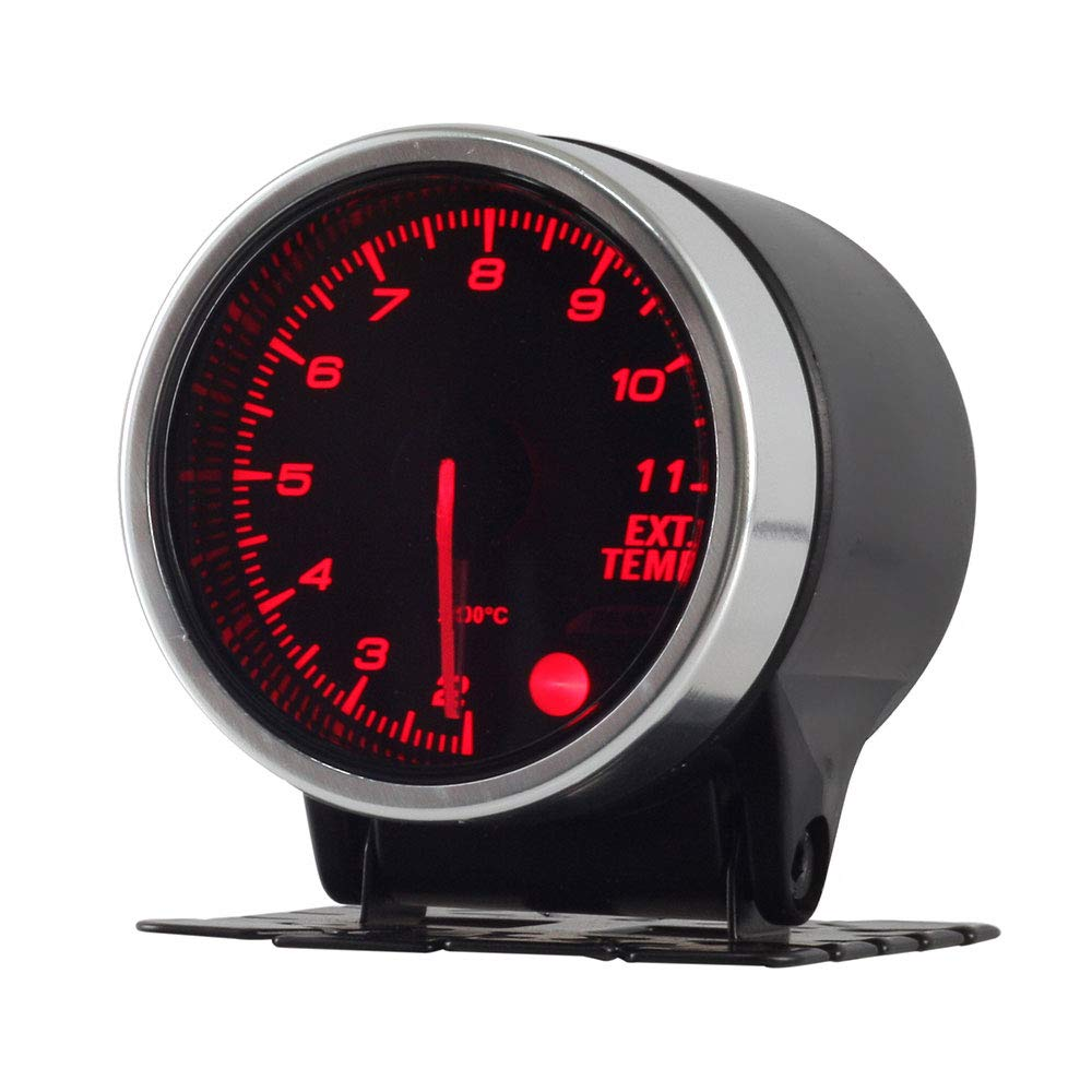 KET 52mm 2inch Analog Clear Lens Racing Car 200-1000Celsius Exhaust Gas Temp Gauge Ext Temp Meter EGT Universal for Car by KET