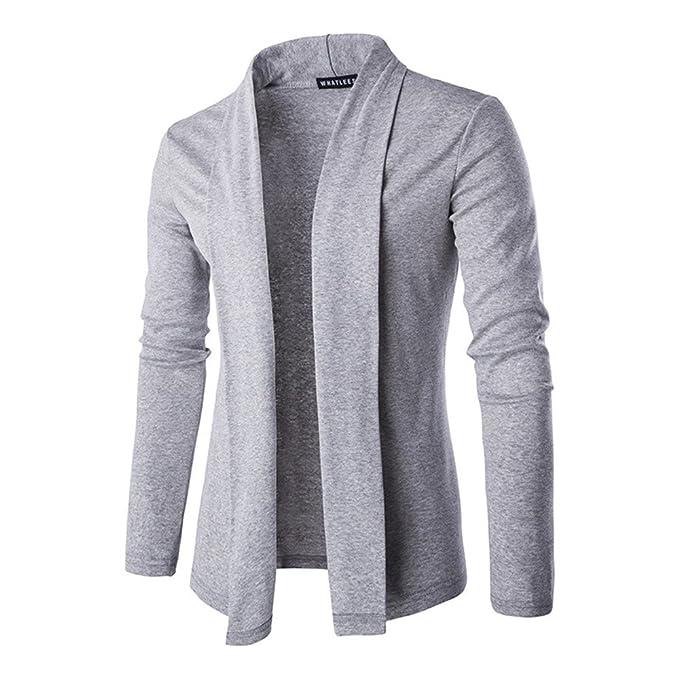 COCO clothing Cardigan Chaquetas Hombre Suéter Cazadora Casual Jacket Prendas de Punto Abrigos Caballero Jerséis (