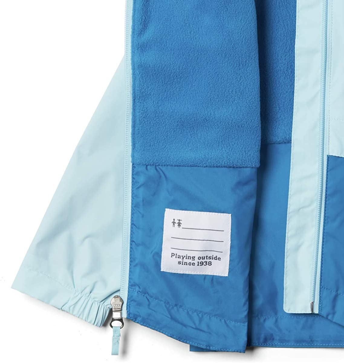 Fleece Lined Waterproof Columbia Girl/'s Rain-Zilla Jacket