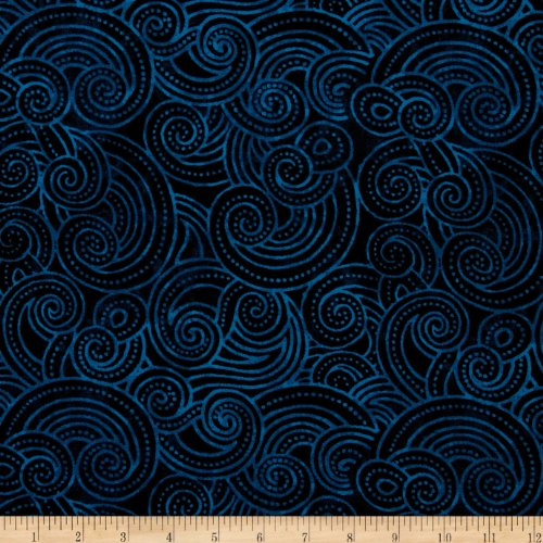 - Wilmington Prints Essential Dotty Waves 108in Wide Quilt Back Navy Fabric By The Yard