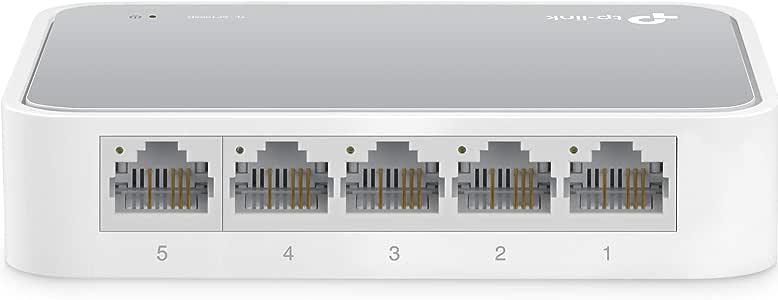 TP-Link TL-SF1005D 5 Port UNMANAGED Desktop Switch 10/100 (5) White 3 YR WTY