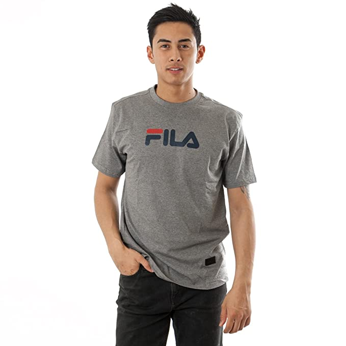 Fila - Camiseta - Manga Corta - para Hombre Gris Gris Small