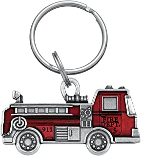product image for DANFORTH - Fire Truck Keyring - Red - Pewter - 2 1/4 Inches - Key Fob - Handcrafted - Made in USA