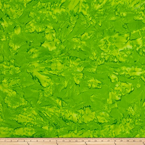 Green Bali Shade - Hoffman Fabrics Hoffman Bali Batik Watercolors Gecko Fabric by The Yard,