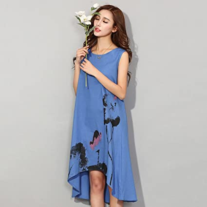 Babigirl Summer Dress NEW New Vestido Casual Dresses Women Chinese Linen Vintage Dress Ladies Sundress Plus