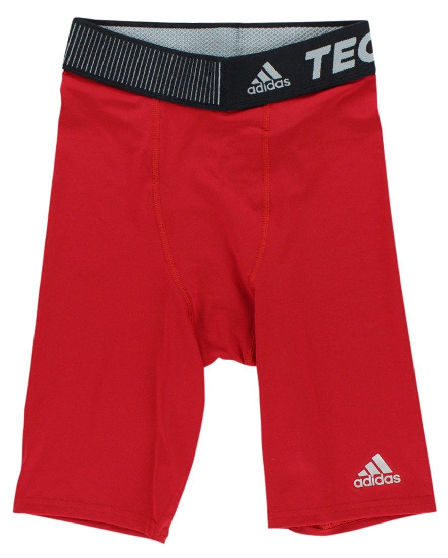 adidas Techfit メンズ ショートタイツ パフォーマンス ベース 9インチ B00DT53DYS X-Small|レッド(Power Red) レッド(Power Red) X-Small