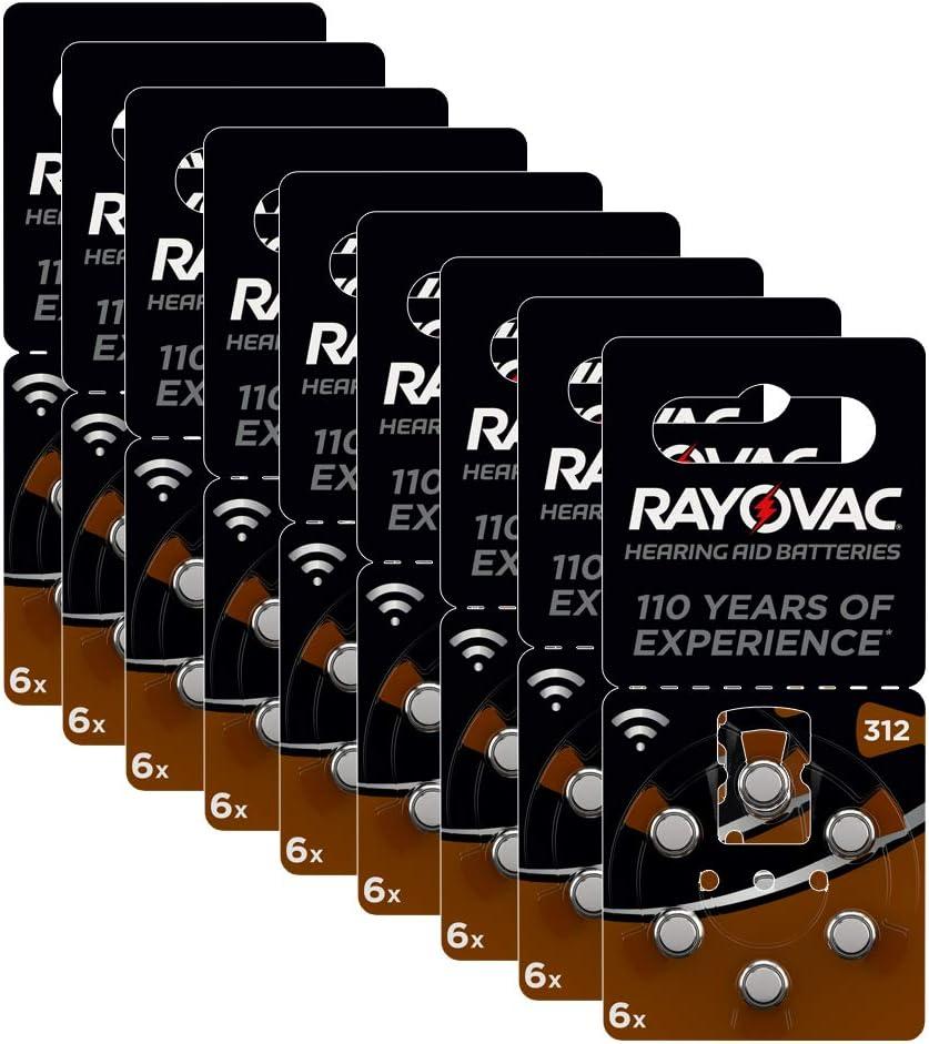 Rayovac Lithium Knopfzellen 312 60er Knopfzellen In Amazon De Elektronik
