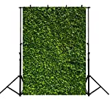MEHOFOTO Summer Photo Studio Booth Backgroud Green Leaves Backdrops for Photography 5ftx7ft