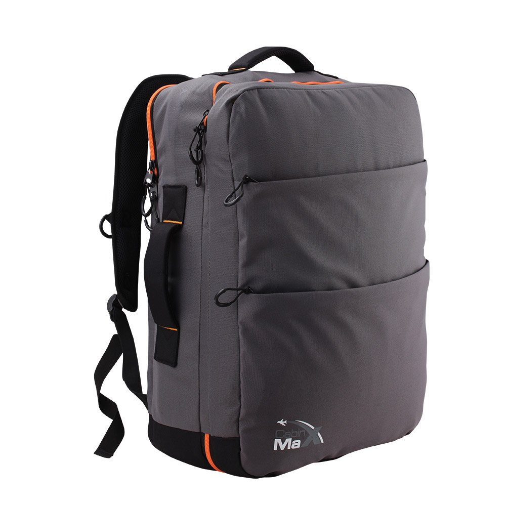 Sac à dos bagage à main Cabin Max Edinburgh 50x40x20cm (Gris/Orange) 0702679485187
