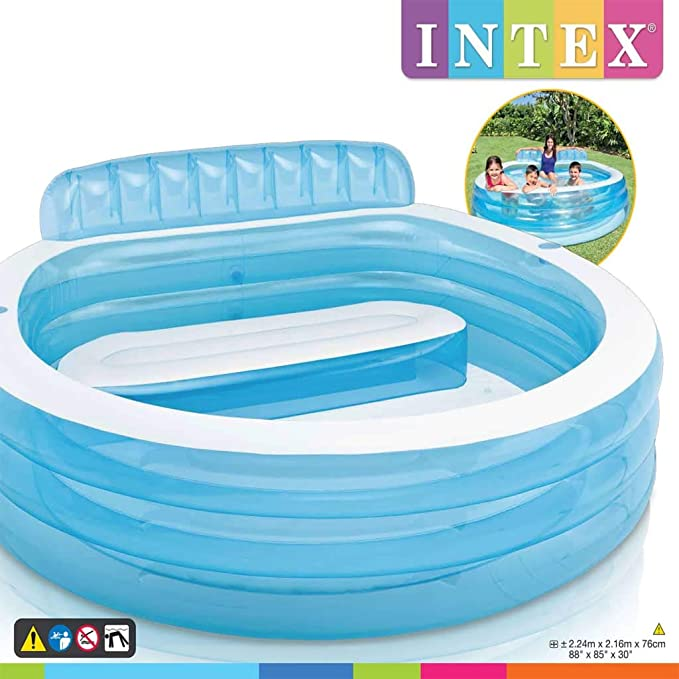 ACCEWIT Intex Swim Center Piscina Hinchable Family Lounge Pool ...