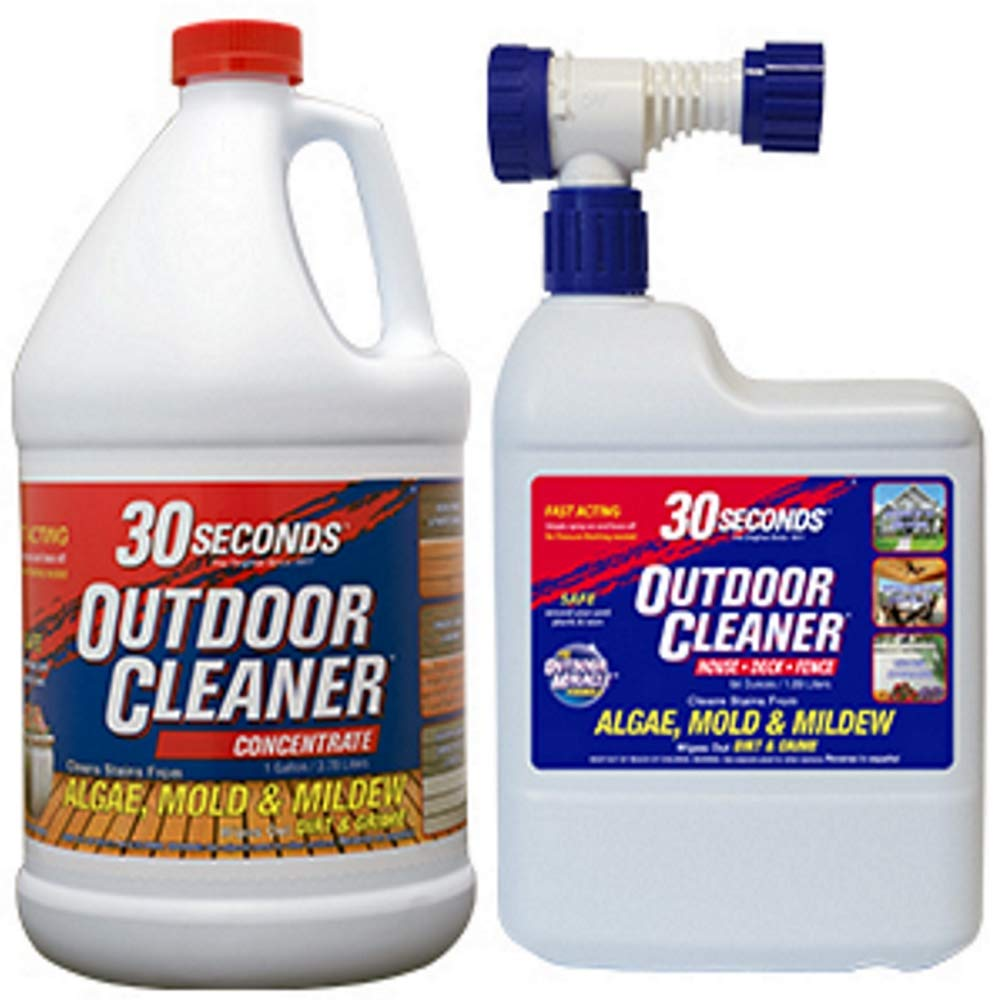 30 Seconds Outdoor Cleaner, 1 Gallon and 64 oz Hose End- Concentrate by 30 SECONDS Cleaners (Image #1)