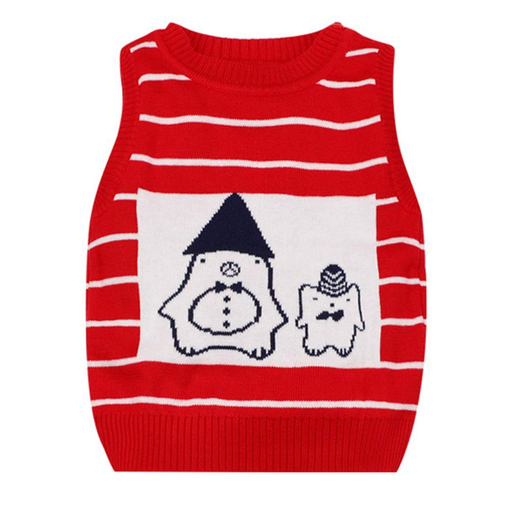 URMAGIC Baby Sleeveless Jumper Toddler Infant Boys Girls Warm Knitted Vest Pullover Tank Top 0-2 Year Old