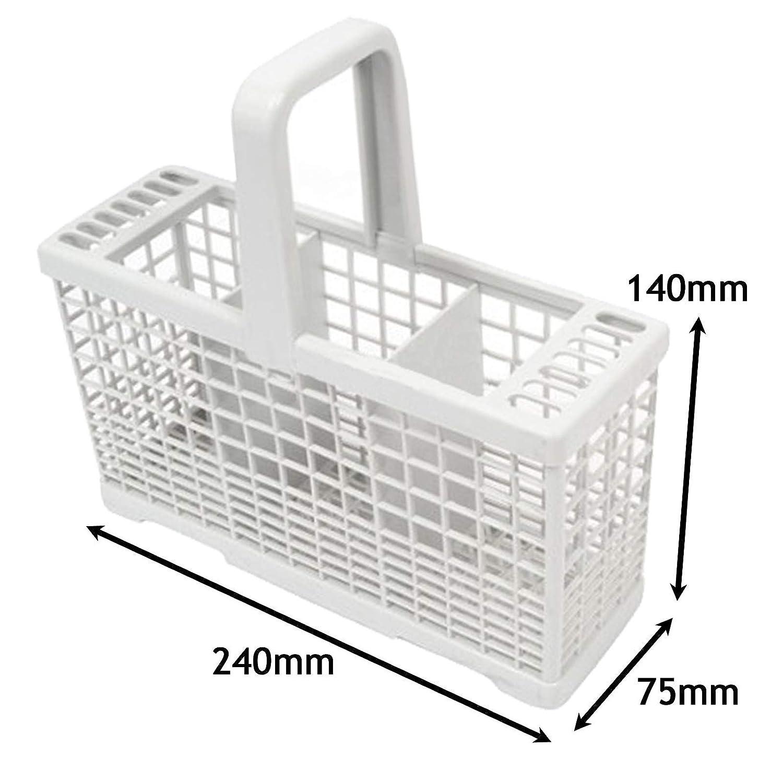 Spares2go - Cesta para cubiertos de 3 compartimentos para ...