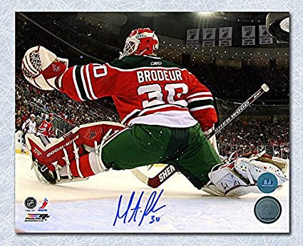 b83f79c9 Martin Broduer New Jersey Devils Autographed Retro Jersey Net Cam 8x10  Photo - Signed Hockey Pictures