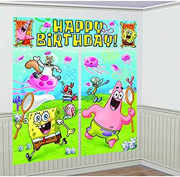 Amazon.com: Present Time Silly – Bob Esponja Kit de escena ...