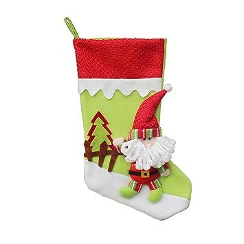 Formulaone Pull Flannel Calcetines de Navidad de Gran tamaño Calcetines de Navidad Supply Lovely Hanging Ornament Decoration 45cm Navidad Decoracion: ...