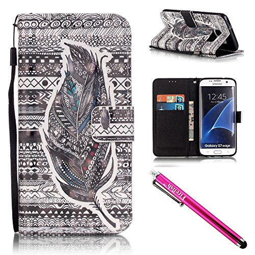 Galaxy-S7-edge-Case-Firefish-Card-Slots-Kickstand-Flip-Folio-Wallet-Case-Synthetic-Leather-Shell-Scratch-Resistant-Protective-Cover-for-Samsung-Galaxy-S7-edge