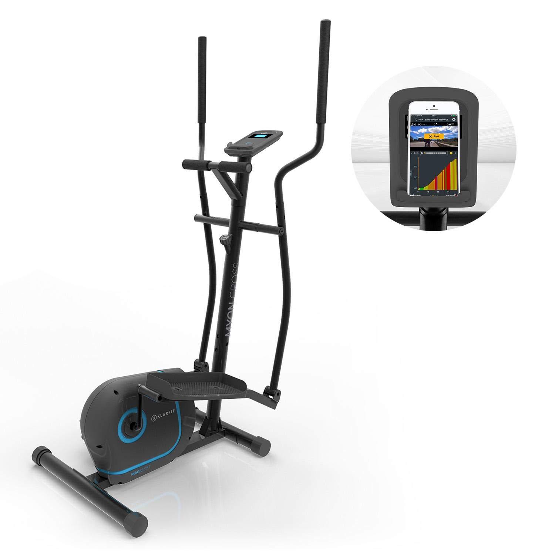 Klarfit Myon • Heimtrainer • Zertifiziert nach EN957 • 12kg Schwungmasse • magnetisches Bremssystem • Tablet-Halterung • SilentBelt Riemenantrieb • Pulssensor