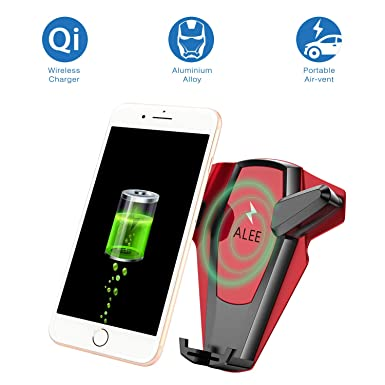 e06c5680ca6 ALEE Qi Wireless Car Charger Mount, Car Phone Holder 5W Fast Wireless  Charger Car Air Vent Mount for ...